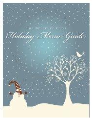 Holiday Menu Guide - Bellevue Club