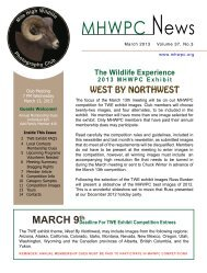 March 2013 Newsletter (PDF) - Mile High Wildlife Photography Club