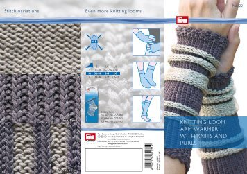 KNITTING LOOM ARM WARMER, WITH KNITS AND PURLS - Prym