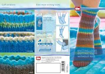 KNITTING LOOM KNITTING SOCKS WITHOUT PINS - Prym