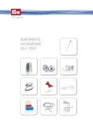 Sortimentsergänzung 2011- 2012 - Prym