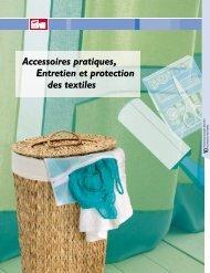 Accessoires pratiques, Entretien et protection des textiles