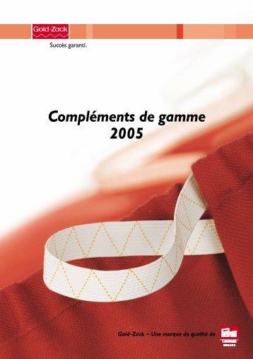 Gold-Zack Compléments de gamme 2005 - Prym Consumer Malaysia