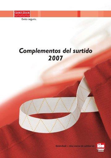 Gold-Zack Complementos del surtido 2007 - Prym Consumer