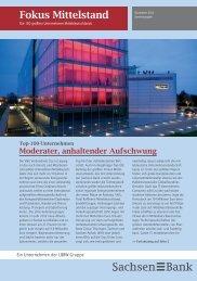 Die 100 größten Unternehmen Mitteldeutschlands - Sachsen Bank