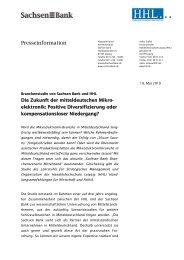 Branchenstudie von Sachsen Bank und HHL Die Zukunft der ...
