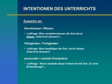 Stundenziele - Sachunterricht Petersen