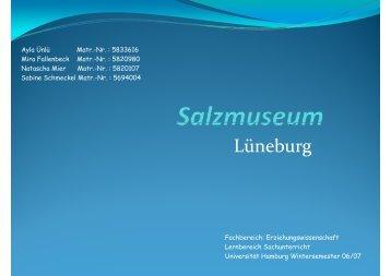 S lazmuseum - Sachunterricht Petersen