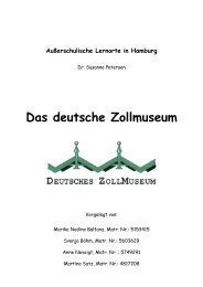 Das Deutsche Zollmuseum - Sachunterricht Petersen