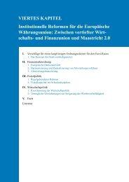 VIERTES KAPITEL Institutionelle Reformen für die Europäische ...