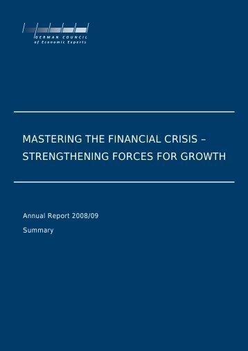 mastering the financial crisis - Sachverständigenrat zur ...