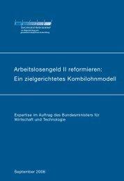 Arbeitslosengeld II reformieren - Sachverständigenrat zur ...
