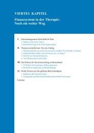 VIERTES KAPITEL Finanzsystem in der Therapie: Noch ein weiter ...