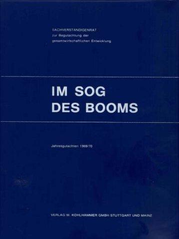 Jahresgutachten 1969/70 - Sachverständigenrat zur Begutachtung ...