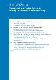 Finanzpolitik und Soziale Sicherung - Sachverständigenrat zur ...