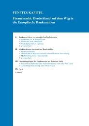 Deutschland auf dem Weg in die Europäische Bankenunion