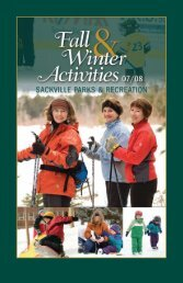 Fall Parks and Recreation Guide (1.6 MB PDF) - Town of Sackville