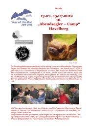 """13.07.-15.07.2012 16. """"Abendsegler – Camp"""" Havelberg - Eurobats"""
