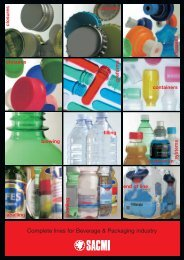 Complete lines for Beverage & Packaging industry - Sacmi