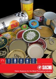 Vision Systems for the Metal Packaging Industry - Sacmi