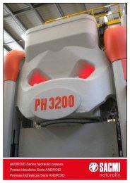 android hydraulic presses leaflet - depliant presse idrauliche - Sacmi