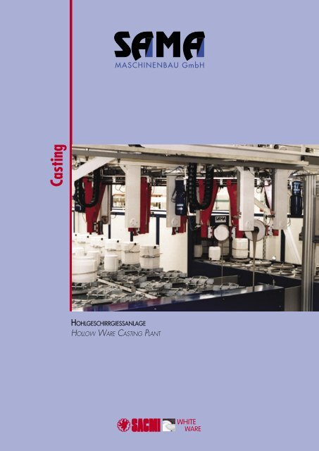 Hohlgeschirrgießanlage - Katalog - Sama