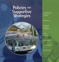 Policies AND Supportive Strategies - sacog