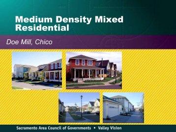 Medium Density Mixed Residential - sacog