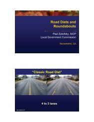 Road Diets and Roundabouts - sacog