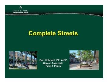 Complete Streets - sacog