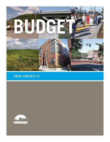 Budget, FY 2012-13 - sacog