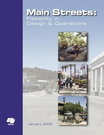 Main Streets: Flexibility in Design & Operations - sacog