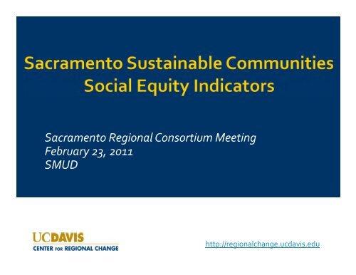 Social Equity Indicators - sacog