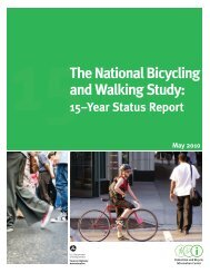 The National Bicycling and Walking Study: - It works!