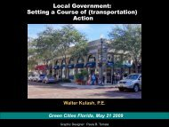 Local Government: Setting a Course of (transportation) Action - sacog