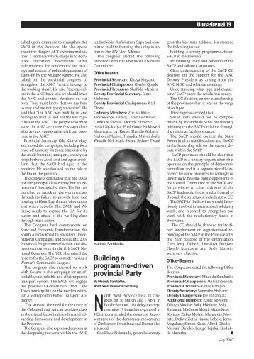 Part 5 - South African Communist Party