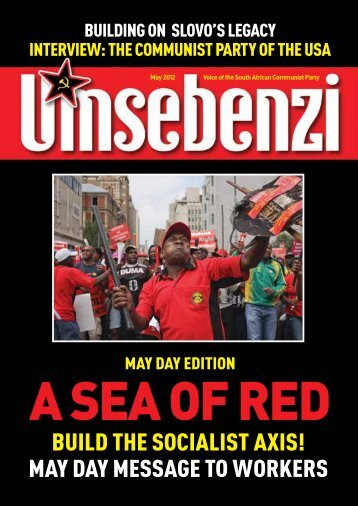 A sea of red - South African Communist Party
