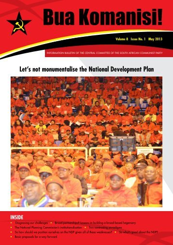 Volume 8, Issue No. 1 - May 2013 - South African Communist Party