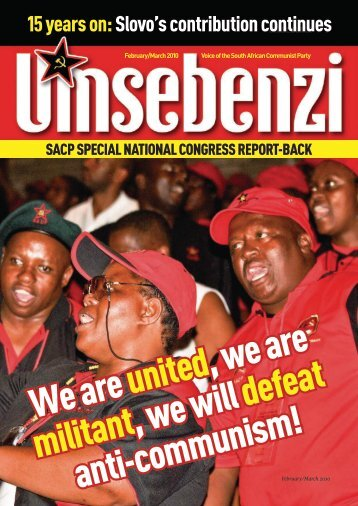 Special National Congress Political Report - South African ...