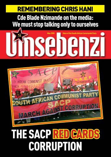 The SACP red cards corruption - South African Communist Party