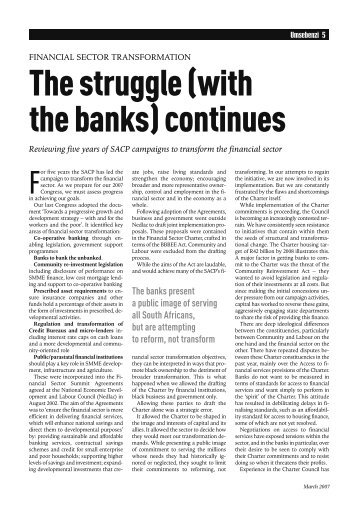 The struggle (with the banks) continues - South African Communist ...