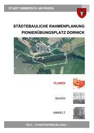 Abschlussbericht Pionierübungsplatz Dornick - Emmerich