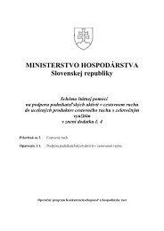 Schéma štátnej pomoci na podporu podnikateľských aktivít v ... - SACR
