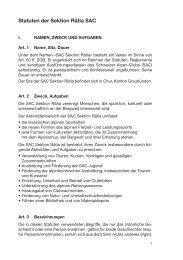 Statuten - SAC Sektion Rätia