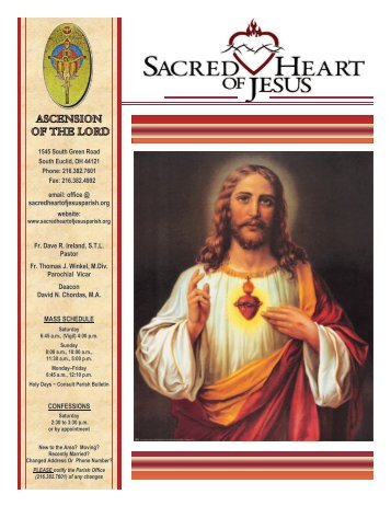 June 5, 2011 - Sacred Heart of Jesus Parish