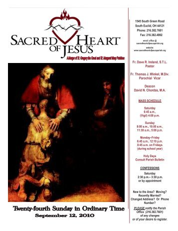 September 12, 2010 - Sacred Heart of Jesus Parish