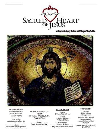 September 19, 2010 - Sacred Heart of Jesus Parish