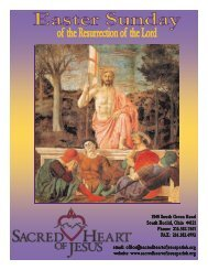 April 8, 2012 - Sacred Heart of Jesus Parish