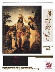 JANUARY 13, 2013 - Sacred Heart of Jesus Parish