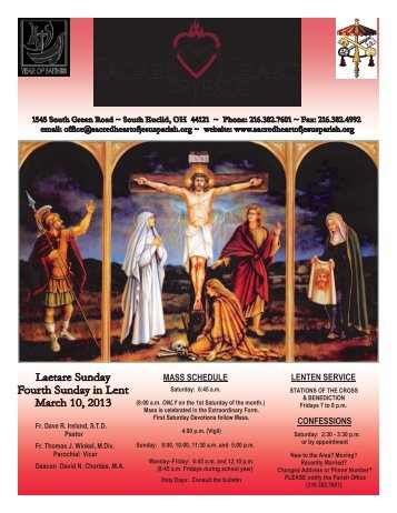 March 10, 2013 - Sacred Heart of Jesus Parish